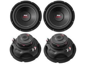 """4) PYLE PLPW12D 12"""" 6400W 4 Ohm Black DVC Car Stereo Power Audio Subwoofers"""