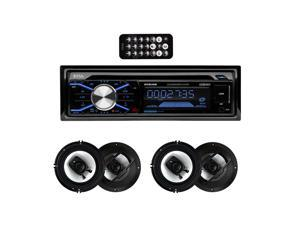 "Boss 508UAB In Dash Bluetooth CD Player Receiver with R63 6.5"" 300W Speakers"