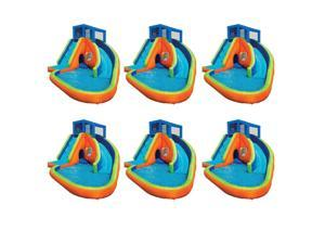 Banzai Sidewinder Falls Inflatable Kiddie Pool with Slides & Cannons (6 Pack)