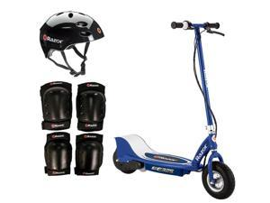Razor E325 Adult High-Torque Electric Powered Scooter with Helmet & Pads, Navy