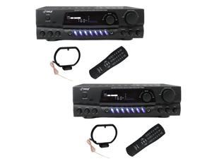PYLE PRO PT260A 200W Home Digital AM FM Stereo Receiver Theater Audio (2 Pack)