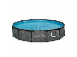 """Summer Waves 12' x 33"""" Outdoor Round Frame Above Ground Swimming Pool with Pump"""