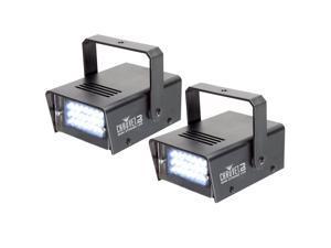 Chauvet LED Mini Strobe Manual Adjust LEDs DJ Club Light Effects (Pair) | CH-730