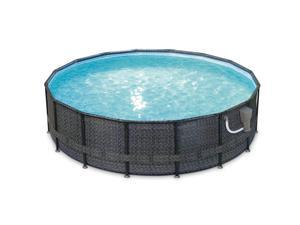 Summer Waves Elite 16ft x 48in Above Ground Frame Swimming Pool Set with Pump