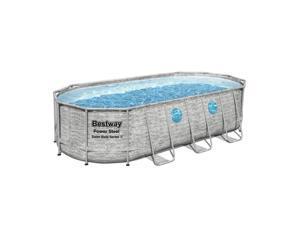 """Bestway Power Steel Swim Vista 18' x 9' x 48"""" Above Ground Swimming Pool Set"""