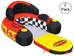 SPORTSSTUFF 54-1602 Siesta Lounge Inflatable Water Float Raft Lounger (2 Pack)
