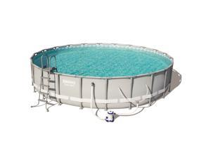 Bestway Power Steel 22in x 4.3ft Above Ground Swimming Pool w/ Pump & Filter