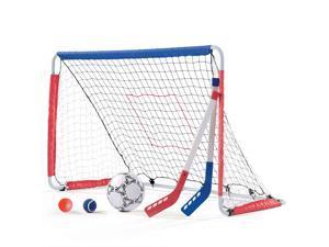 Step2 Kid Child Outdoor Kickback Soccer Hockey Training Goal and Pitchback Net
