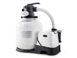 Intex 26679EG 2,150 GPH Krystal Clear Saltwater System and Sand Filter Pump