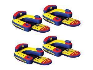 Airhead Bimini Lounger II 1 Person Inflatable Pool Lake Lounge Raft (4 Pack)