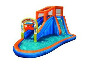 Banzai Plummet Falls Adventure Kids Inflatable Outdoor Water Park Pool Slide