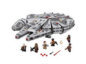Lego Star Wars The Rise Of Skywalker Millennium Falcon 75257 Starship Model Building Kit And Minifigures New 2019 1 351 Pieces Newegg Com
