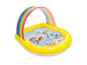 Intex 57156EP 22-Gallon Inflatable Rainbow Arch Kids Spray Pool for Ages 2 & Up