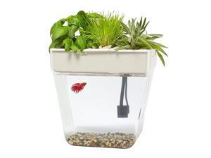 3 Gal. Self-Cleaning Aquaponic Water Garden Fish Tank Aquarium
