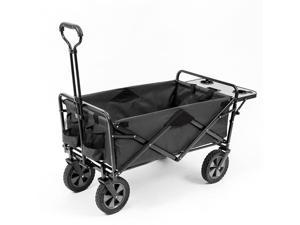 Mac Sports Folding Outdoor Garden Utility Wagon Cart w/ Table, Grey