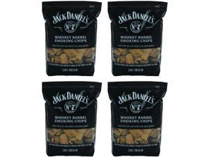 Jack Daniel's Whiskey Barrel Smoking Oak Wood Chips, 180 Cubic Inches (4 Pack)