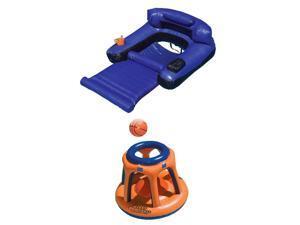 Swimline Giant Shootball Inflatable Pool Toy w/ Swimline Inflatable Pool Lounger