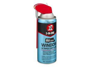 3-IN-ONE RVcare Sliding Window & Door Plastic and Vinyl Track Dry Lube, 10 Ounce
