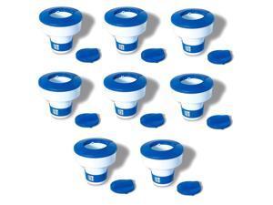 Swimline Hydrotool Swimming Pool Adjustable Floating Chlorine Dispenser (8 Pack)