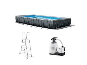 Intex 32 Ft x 16 Ft x 52 Inch Ultra XTR Rectangular Swimming Pool Set with Pump