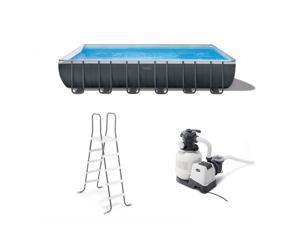 Intex 24Ft x 52In Ultra XTR Rectangular Frame Swimming Pool Set w/ Pump