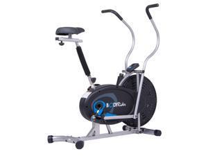 Body Flex Sports BRF650 Body Rider Upright Gel Seat Fan Bike with Looped Pedals