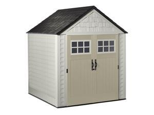 Rubbermaid 2035896 7 x 7 Feet Big Max Storage Shed with Utility and Handle Hook