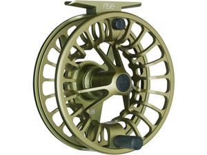 Redington Rise Powerful Solid Ambidextrous Angler 7/8 Fly Fishing Reel, Olive