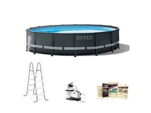 Intex 16ft x 48in Ultra XTR Round Frame Swimming Pool, Pump, & Winterizing Kit