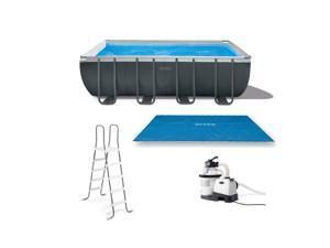 Intex Ultra 18ft x 9ft x 52in Ultra XTR Rectangular Frame Pool & Solar Cover