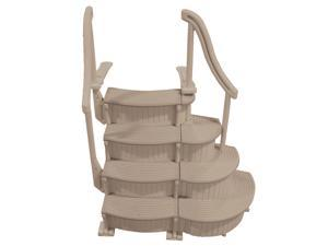 Confer CCX-ADD 3 Step Above Ground Swimming Pool Ladder Stair Add On Only, Beige