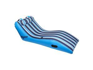 Aqua Ultra Cushioned Comfort Lounge Inflatable Swimming Pool Float with Pillow