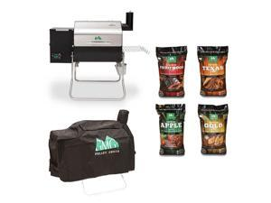 Green Mountain Davy Crockett Wifi Wood Pellet Grill with Cover & Pellet (4 Pack)