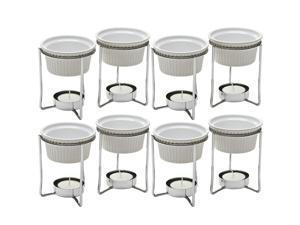 PrepWorks by Progressive 5-Ounce Ceramic Butter Warmer Home Fondue Set (4 Sets)
