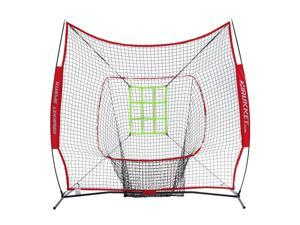 Rukket Sports 7x7 Sock It Baseball and Softball Practice Net with Strike Zone