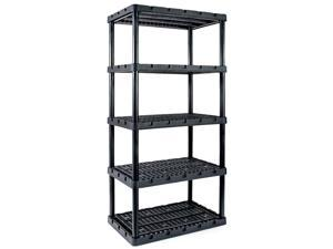 Gracious Living Knect A Shelf Heavy Duty Ventilated Storage 5 Tier Shelving Unit
