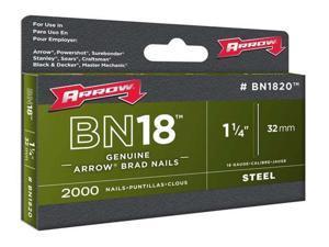 """Arrow Brad Nail, 1 1/4"""", 18 Ga, PK1000 18 Gauge  BN1820CS"""