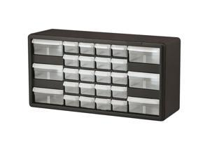 "Akro-Mils Stackable Cabinet 26 Drawers 20""x6-3/8""x10-11/32"" Black/Gray 10126"