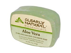 Soap (Glycerine)-Aloe Vera - Clearly Natural - 4 oz - Bar Soap