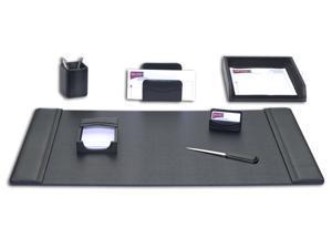 Black 8-Piece D1012 Dacasso Leather Desk Set