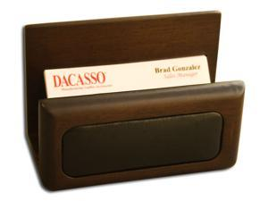 A8407 Business Card Holder Walnut & Leather