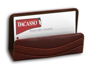 A3007 Business Card Holder Hand-tucked Mocha Leather