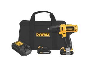 "DEWALT DCD710S2 Drill Driver Kit, 3/8"", 12V, Limited Quantities Available"