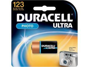DURACELL 3V 123 Lithium Battery, 1-pack