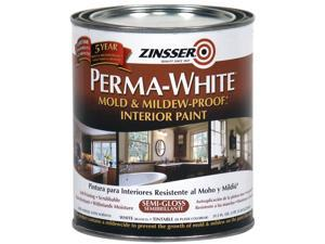 Interior Paint,White,Semi-Gloss,1 qt. ZINSSER 2754