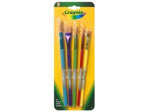Crayola Llc 05-3506 5 Pack Assorted Colors Crayola Paint Brush Set