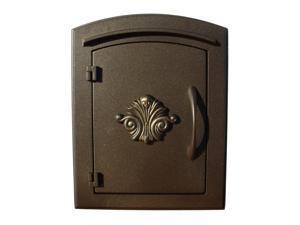 QualArc MAN-1401-BZ Manchester Scroll Door Column Mount Mailbox - Bronze