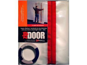 Dust Barrier Door,Clear,5 Ft x 8-1/2 Ft ZIPWALL ZDC