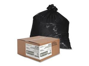 """Nature Saver Trash Can Liners Rcycld 56 Gal 1.25mil 43""""x48"""" 100/BX BK 00992"""