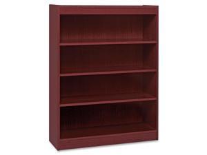 "Lorell 4 Shelf Panel Bookcase 36""Wx12""Dx48""H Mahogany 60072"